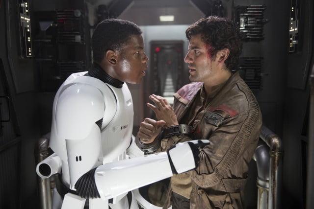 Finn (John Boyega) and Poe Dameron (Oscar Isaac)