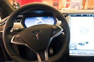 Tesla Model X steering wheel