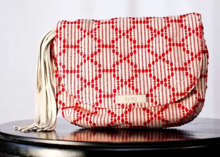 Scarlet Multi Cross Stitch Mix Tassel Venice Crossbody bag