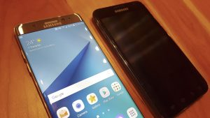 Samsung Galaxy Note7 and the original Note