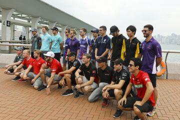 Hong Kong ePrix drivers