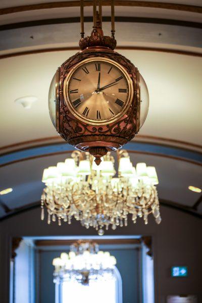 Lobby clock at Hotel Saskatchewan