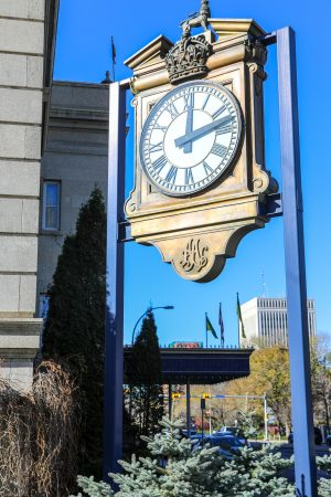 Hotel Saskatchewan clock