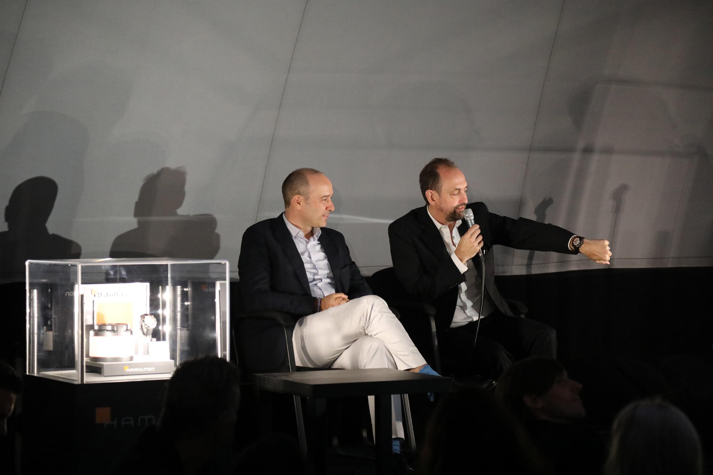 Hamilton CEO Sylvain Dolla & Nathan Crowley