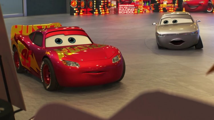 Lightning McQueen and Sterling in Cars 3