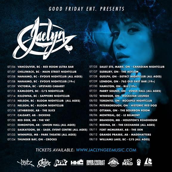 Jaclyn Gee tour schedule