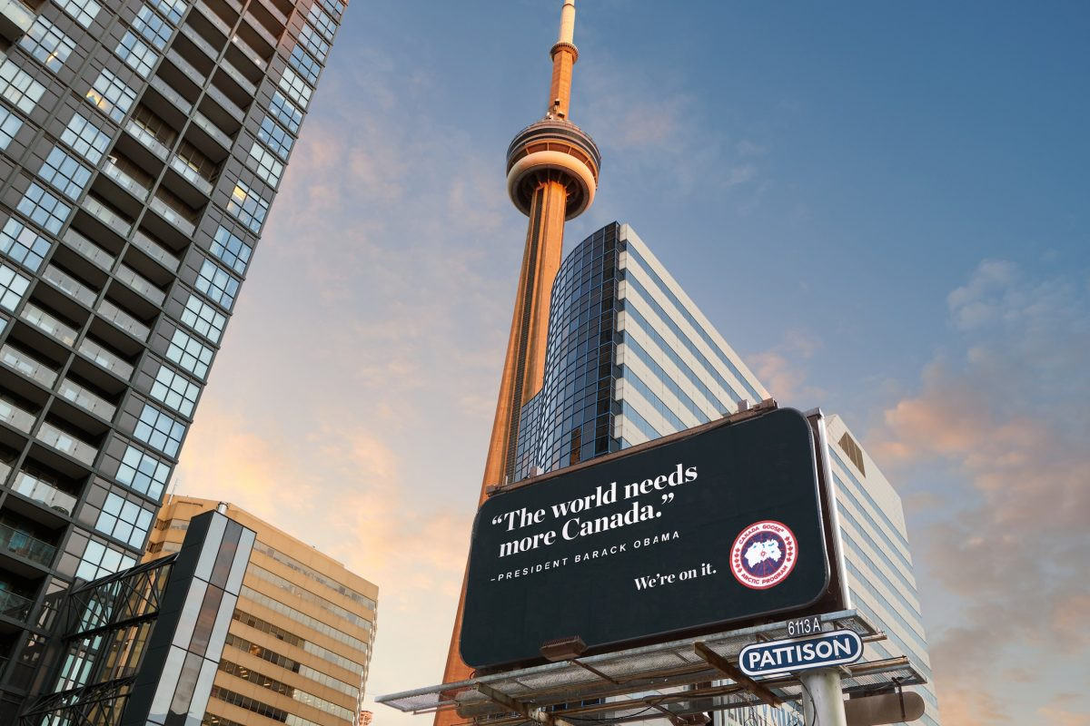 Canada Goose Billboard to President Barack Obama