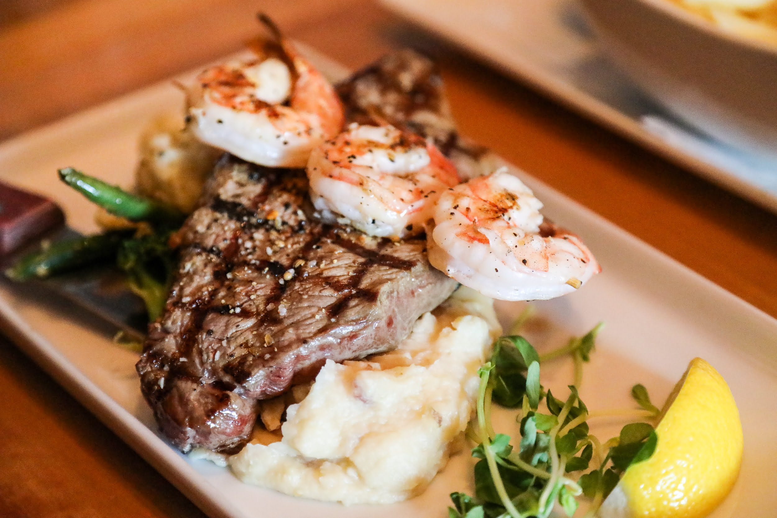 Touch of Each steak at Copper Blues