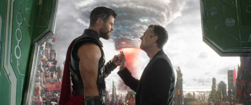Chris Hemsworth and Mark Ruffalo in Thor: Ragnorak
