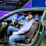 Sitting in the Ford Bullitt Mustang