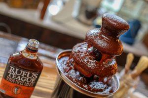 Rufus Teague's BBQ sauce fountain