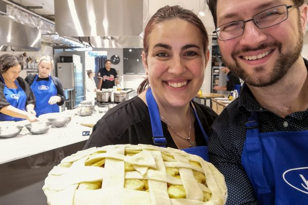 Aisha and I with our apple pie | Ford Harvest event