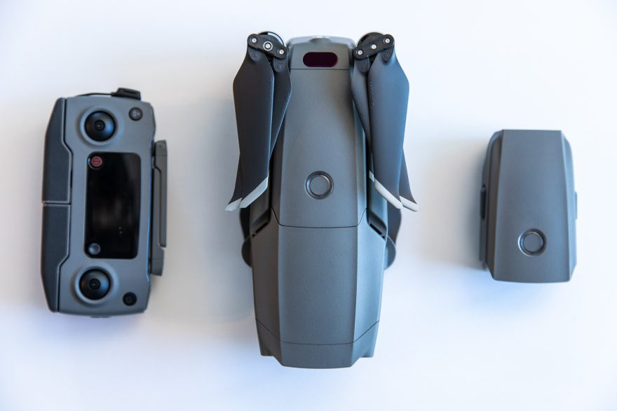 DJI Mavic 2 Pro, controller, and an extra battery