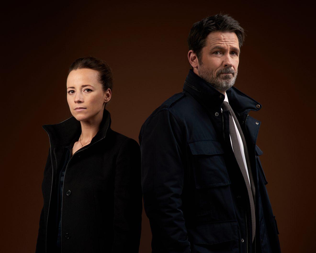 Karine Vanasse and Billy Campbell | Cardinal Season 3