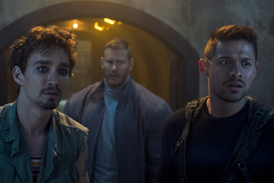 Robert Sheehan, Tom Hopper, and David Castañeda
