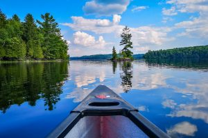 Summer camping and canoeing
