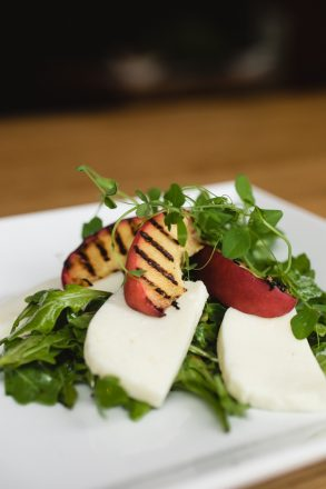 Hawthorne Food Drink - Grilled Peach Mozzarella Salad
