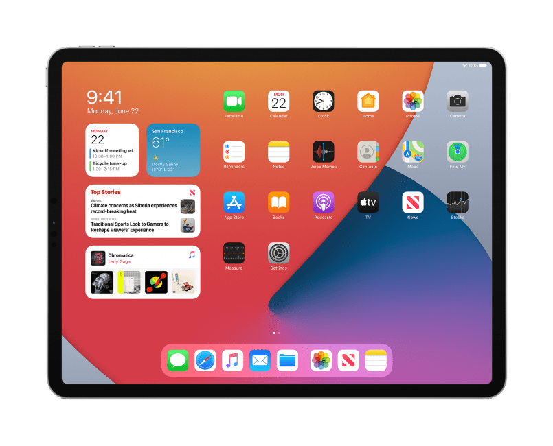 Apple iPadOS 14 widgets