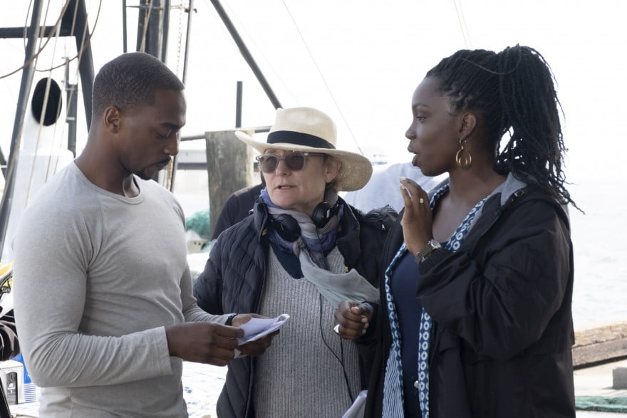 Anthony Mackie, Director Kari Skogland, and Adepero Oduye