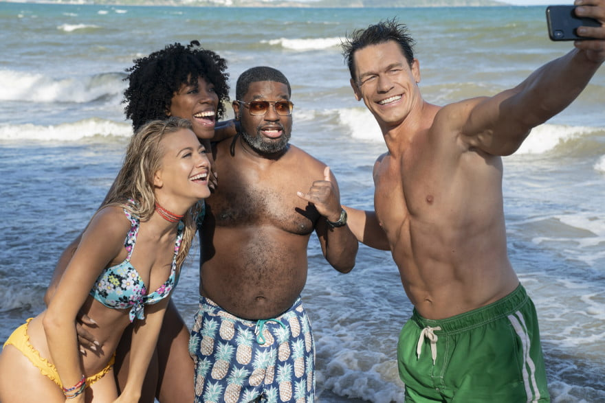 Meredith Hagner, Yvonne Orji, Lil Rel Howery, and John Cena in Vacation Friends