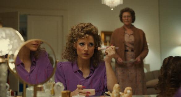"Jessica Chastain as ""Tammy Faye Bakker"" and Cherry Jones"