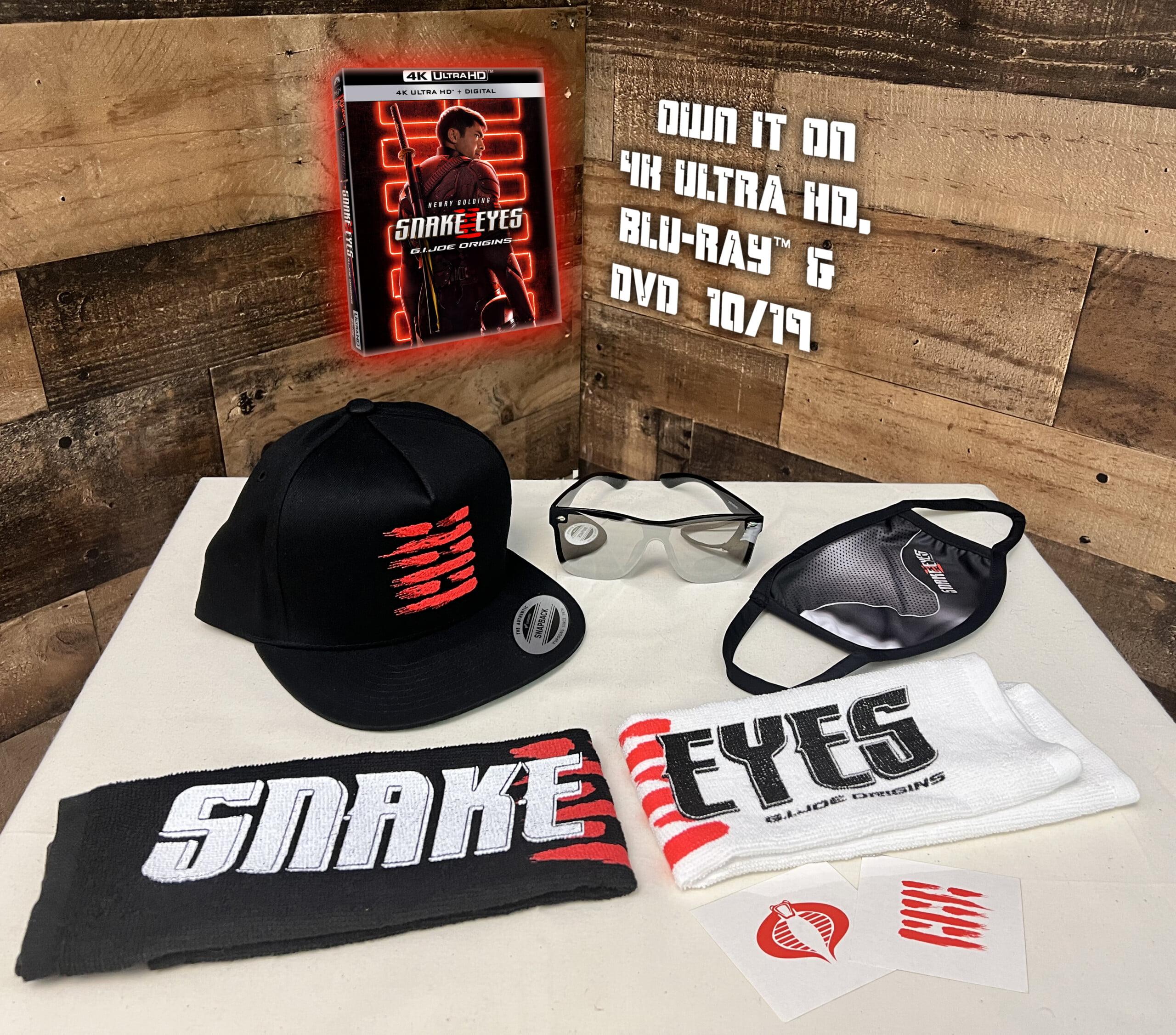 Snake Eyes: G.I. Joe Origins 4k Blu-ray prize pack