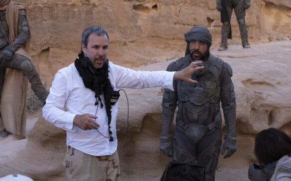 Denis Villeneuve on the set of Dune